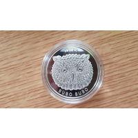 """Пугач"" ( Филин ) , серебро , 20 рублей , 2010 год"