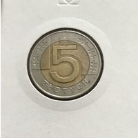 5 злотых 1994 Польша