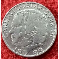 1 крона 1989 год Швеция, Король Карл XVI Густав
