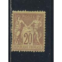 Франция 1876-78 Вып Мир и Торговля Стандарт тип I #67**