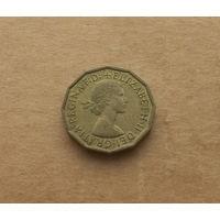Великобритания, 3 пенса 1967 г., Елизавета II