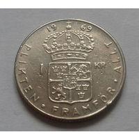1 крона, Швеция 1969 г.