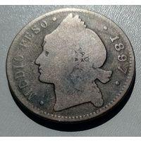 Доминиканская Республика 1/2 песо 1897 года