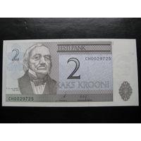 ЭСТОНИЯ 2 КРОНЫ 2006 ГОД UNC