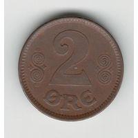 Дания 2 эре 1920 года