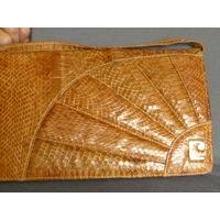 Сумочка винтажная из натуральной змеиной кожи-(Япония)/*Достаточно вместима: 29х17см.