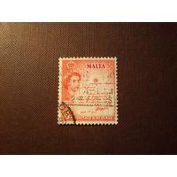 Мальта 1956 г.Елизавета - II.Свиток короля.