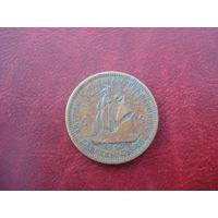 5 центов 1962 год Восточные Карибы