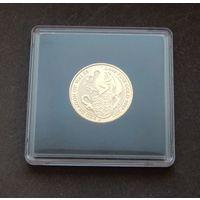 25 фунтов 2017 в капсуле, Великобритания, 1/4 тройских унции, золото, Дракон Уэльса (Red Dragon of Wales), UNC