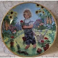 """Тарелка коллекционная."""" Дети цветы жизни"""""""