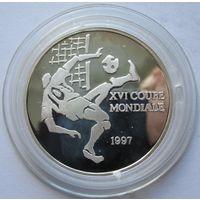 Конго 1000 франков 1997 Чемпионат мира по футболу 1998 - серебро 0,925