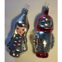 Две винтажные игрушки-красноармеец,и космонавт, СССР,1960 е,