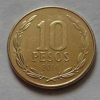 10 песо, Чили 2014 г.