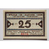 Германия (Notgeld), 25 пфеннигов 1921 год. (#13)
