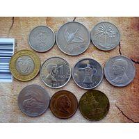 Азия. 10 монет-10 разных стран. - 3