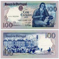 Португалия. 100 эскудо (образца 1985.03.12 года, P178d, подпись 2, UNC)
