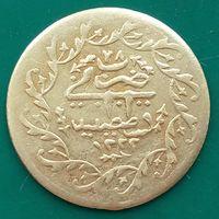 ОСМАНСКАЯ ИМПЕРИЯ  жетон (для кальяной) 1222 год (1884),Мустафа IV,монетный двор Стамбул