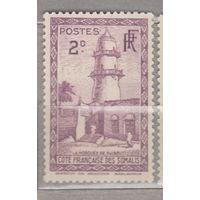 Колонии Французская колония Архитектура Мечеть Сомали 1938 год лот 12 ЧИСТАЯ