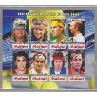 Теннис спорт известные люди Малави 2012 г  лот 50