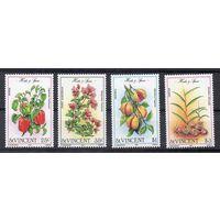 Флора Сент-Винсент 1985 год чистая серия из 4-х марок (М)