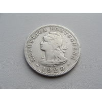 Сан-Томе и Принсипи. 50 Сентаво 1929 год  KM#1   Тираж: 400.000