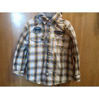 Детская рубашка с капюшоном рост 104