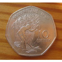 Маврикий 10 рупий 1997г.