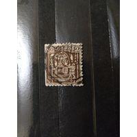1932 Старенькая марочка Перу искусство культура (3-1)