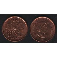 Канада _km490 1 цент 2008 год km490a магнит (f33)