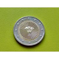 Греция, 2 евро 2018, биметалл, 70 лет cоюзу Додеканеса с Грецией.