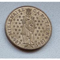 Франция 10 франков, 1987 Тысячелетие династии Капетингов 3-2-19