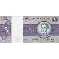 Бразилия 5 крузеиро образца 1970-1979 UNC p192c
