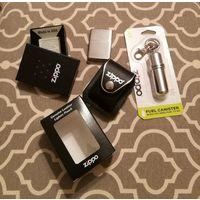 Подарочный набор Zippo: зажигалка, чехол, канистра