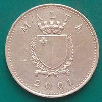1 цент 2001 МАЛЬТА