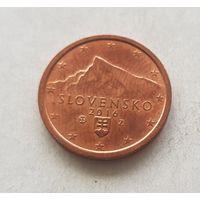 2 евроцента 2016 Словакия