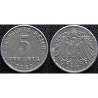 YS: Германия, 5 пфеннигов 1920A, KM# 19 (2)