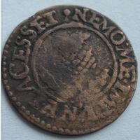 Шотландский торнер (двойной пенни) 1632-1633 г. первая медная монета на Беларуси-8