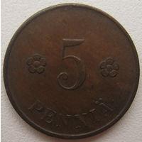 Финляндия 5 пенни 1920 г. (d)