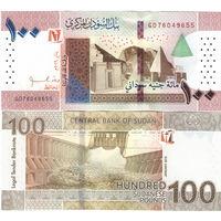 Судан 100 фунтов  2019 год  UNC