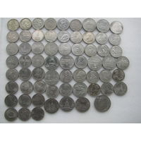 Полный комплект Cu-Ni монет СССР (64 шт.)