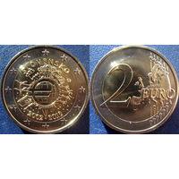 Словакия, 2 евро 2012 10 лет наличному обращению евро. UNC.