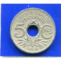 Франция 5 сантимов 1919