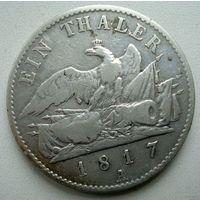 Пруссия. 1 талер 1817 год.