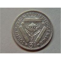 Южная Африка 3 пенса 1952