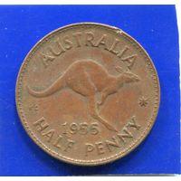 Австралия 1/2 пенни 1955