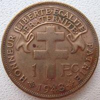 Мадагаскар 1 франк 1943 (а)
