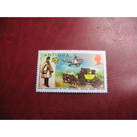 Марка Карета. 100-летию Всемирного почтового Союза 1974 года Антигуа