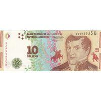 Аргентина10 песо 2016 (ПРЕСС)