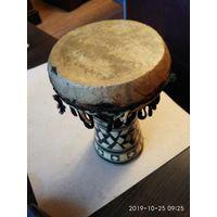 Музыкальный инструмент барабан инкрустация перламутром Иордания.