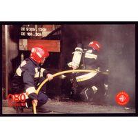 Испания Пожарники Барселоны за работой